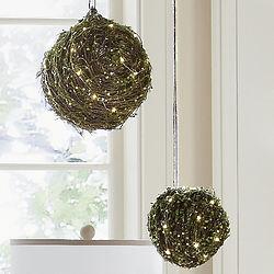 LED Woven Twig Orbs