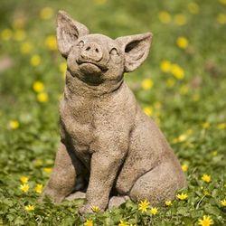 Perky Pig Garden Statue