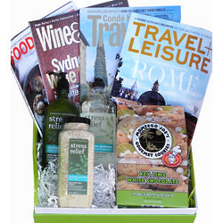 Stress Relief Magazines and Bath Products Gift Box