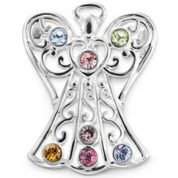 7 Swarovski Crystal Birthstones Angel Pin