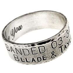 Men's Personalized Rustic Thick Silver Ring