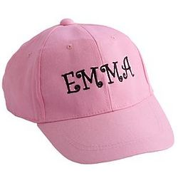 Pink Personalized Kid's Baseball Cap