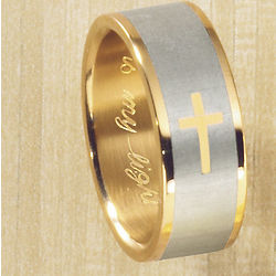 Personalized Two-Tone Cross Band