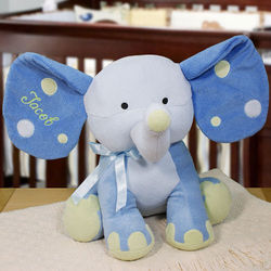 Personalized Polka Dot Blue Elephant