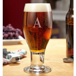 Concord Engraved Initial Beer Glass