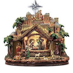 Following The Star Musical Nativity Sculpture