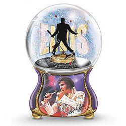 Elvis Presley Burning Love Musical Glitter Globe