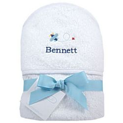 Personalized Airplane Hooded Towel
