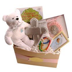 Girl's Baptism Gift Basket