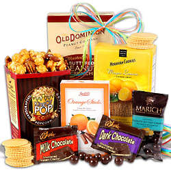 Sweets Gift Basket Stack