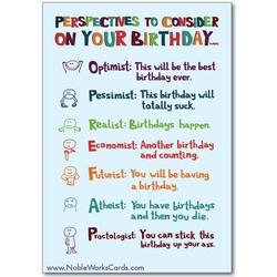 Birthday-ist Funny Talk Bubbles Happy Birthday Card