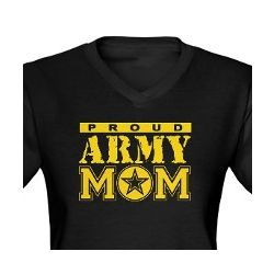 Proud Army Mom V-Neck T-Shirt