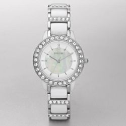 Ceramic White MOP Dial Watch