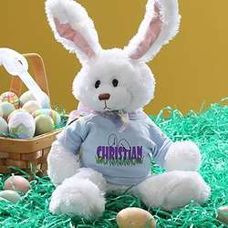 Personalized Stuffed Easter Bunny Rabbit for Boys