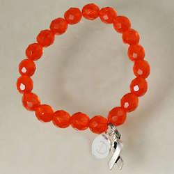 Orange Hope Leukemia Awareness Bracelet