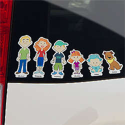 Personalized Family Car Decal