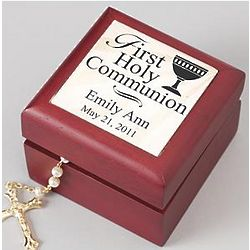 Personalized Tile Communion or Confirmation Keepsake Box