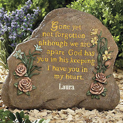 Personalized Gone Yet Not Forgotten Decorative Stone