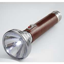 Classic Leather-Wrapped Flashlight