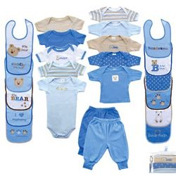 24 Piece Baby Outfit and Bibs Set