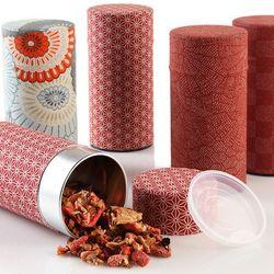 Red Tea Storage Tin