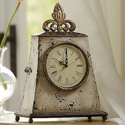 French Style Distressed Brady Clock