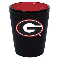 Georgia Bulldogs Two Tone Black Ceramic Shot Glass