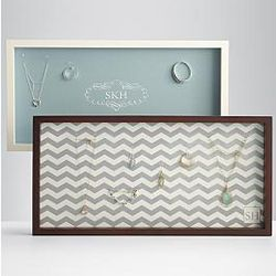 Horizontal Hanging Personalized Wall Jewelry Display Case
