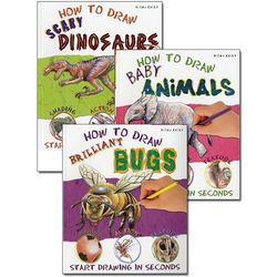 How to Draw Animals, Dinoaurs and Bugs Paperback Books