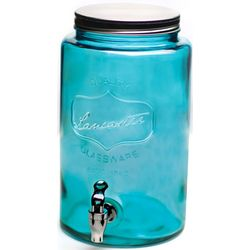 Blue Wave Mason Jar Drink Dispenser