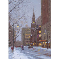 Arlington Street Snowfall Greeting Cards