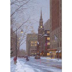 Arlington Street Snowfall Greeting Cards
