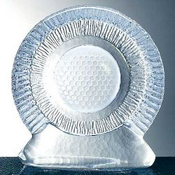 Molten Glass Golf Trophy