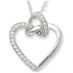 Friendship Promises Sterling Silver Heart Necklace