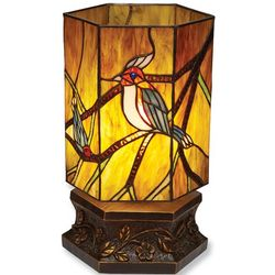 Birds on Branches Tiffany-Style Accent Lamp