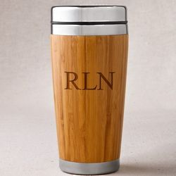 Personalized Bamboo Coffee Tumbler