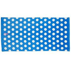 Aqua Personalized Initial Polka Dot Beach Towel