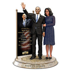 President Barack and Michelle Obama Farewell Sculpture