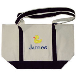 Personalized Canvas Baby Bag