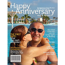 Personalized Anniversary Magazine Cover