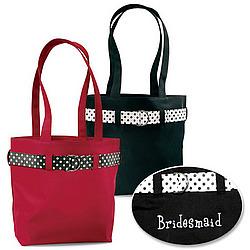 Monogrammed Bridesmaid Tote Bag