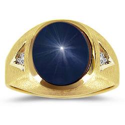 Star Sapphire Men's Ring