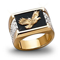 Men's Wings of Glory Bald Eagle Ring