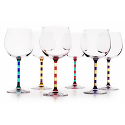 Capri Hand Painted Balloon Wine Glasses