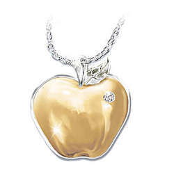Teachers are the Heart of Learning Diamond Pendant Necklace