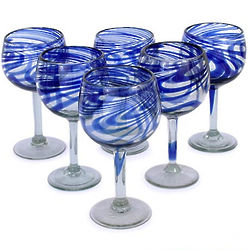 Blue Ribbon Wine Glass Set