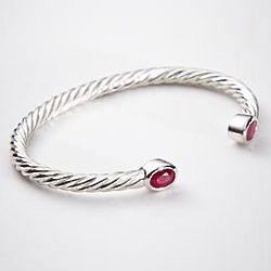 Birthstone Cuff Bracelet