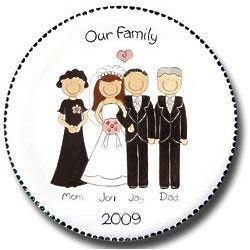 Personalized Wedding Portrait Plate