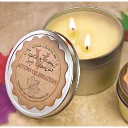 Large Autumn Celebrations Candle