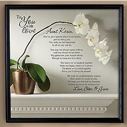 Personalized To You with Love Framed Canvas